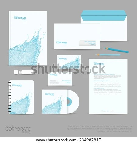 Brand Identity Company Style Template Demonstrated Stock Vector - stationery for businesses