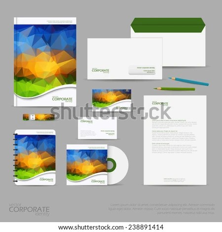 Brand Identity Company Style Template Demonstrated Stock Vector HD
