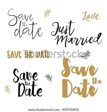 Save Date Wedding Card Save Date Stock Photo (Photo, Vector