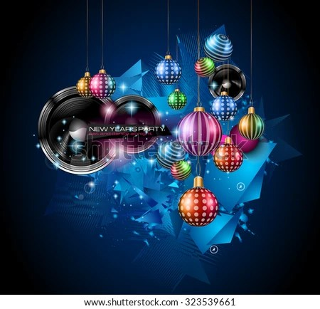 Christmas Party Flyer Music Night Events Stock Vector HD (Royalty