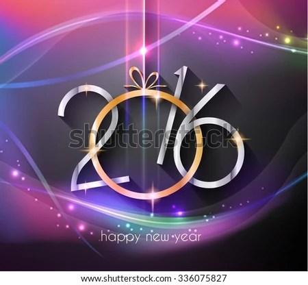 2016 Flyer Happy New Year Background Stock Illustration 336075827
