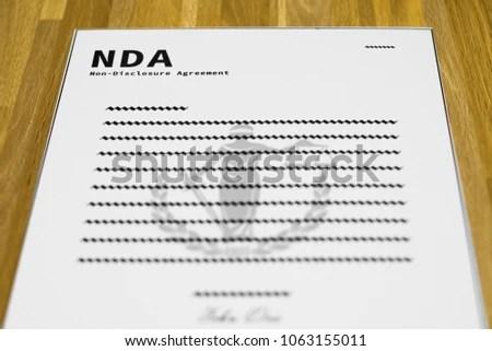 Fake NDA Form Mockup Nondisclosure Agreement Stock Photo  Image - free non disclosure agreement form