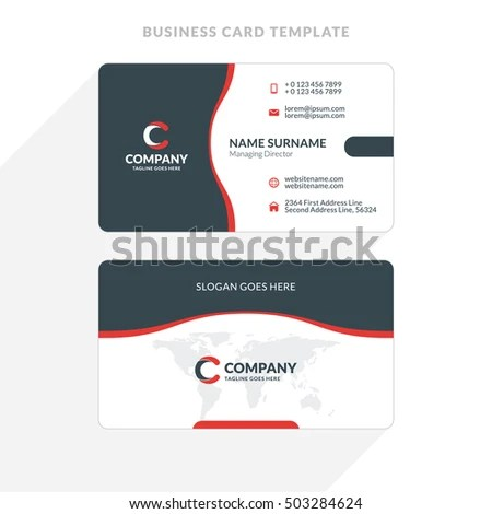 √ Creative Clean Doublesided Business Card Template Stock