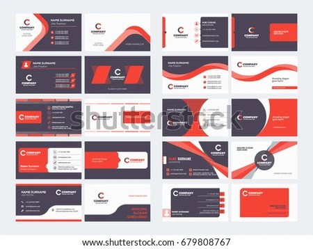 Double Sided Business Card Templates Stationery Stock Vector (2018