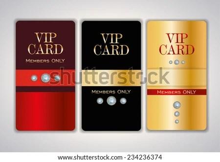 Vip Club Card Design Templates Crystals Stock Vector 234236374 - club card design