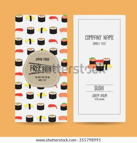 Set Japan Food Voucher Template Design Stock Vector 355798991 - food voucher template