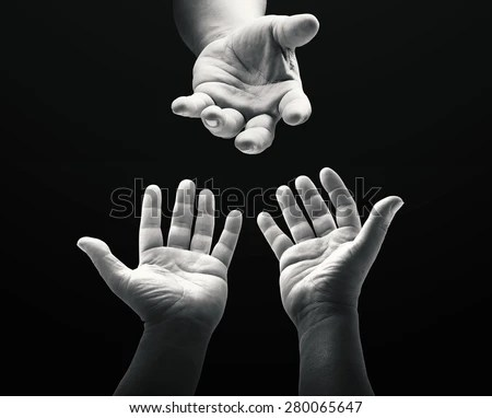 Muslim Baby Girl Wallpaper Download Mercy Hand Jesus Christ Concept Black Stock Photo Royalty