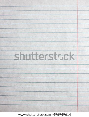 Lined Paper Sheet Blank Template Notebook Stock Photo (Safe to Use - blank lined paper template