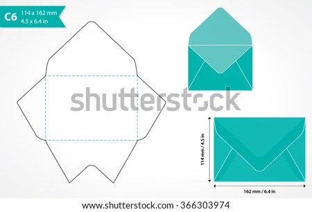 Cutout Paper Envelope Template Perfect Making Stock Vector (Royalty