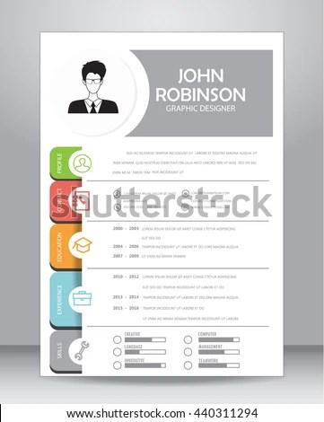 Job Resume CV Template Layout Template Stock Vector 440311294 - resume/cv