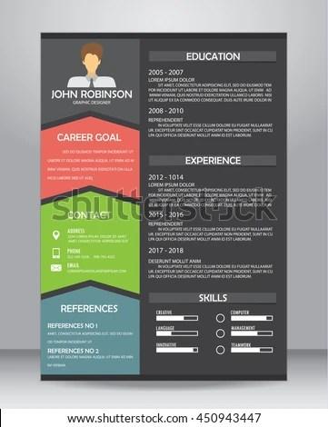 Job Resume CV Layout Template A 4 Stock Vector 450943447 - Shutterstock - cv layout