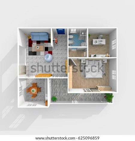 3d House Plans Stock Images, Royalty-Free Images \ Vectors - 3d house plans