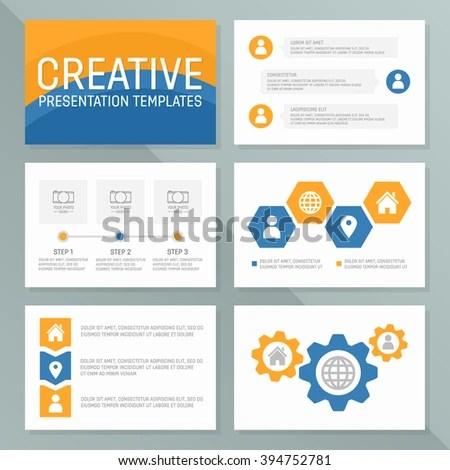 Vector Template Presentation Slides Graphs Charts Stock Vector - graphs and charts templates