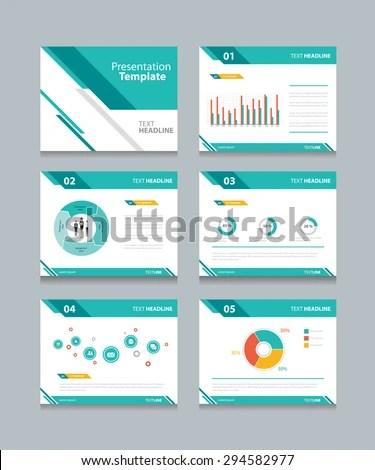 Business Presentation Template Setpowerpoint Template Design Stock - presentation template