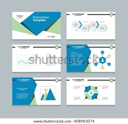 Templates Presentation Info Graph Charts Element Stock Photo (Photo