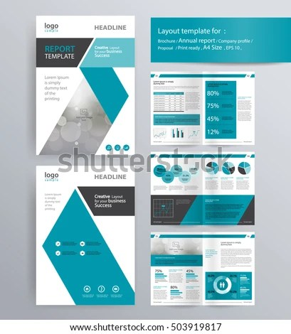 Page Layout Company Profile Annual Report Stock Vector 503919817 - company profile