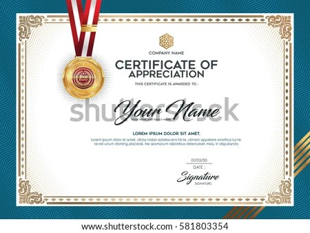 Layout Text Format Certification Certificates That Stock Vector - certificate layout
