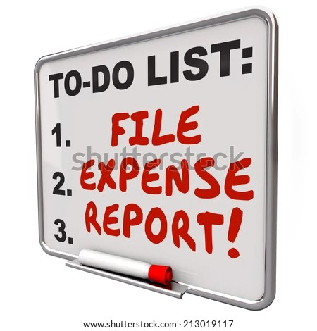 File Expense Report Words Written On Stock Illustration 213019117 - expense report