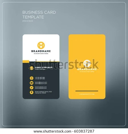 Vertical Business Card Print Template Personal Stock Vector HD