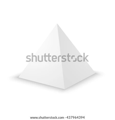 Blank White Pyramid On White Background Stock Vector 437964394 - blank pyramid template