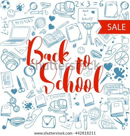 Welcome Back School Typographical Background School Stock Vector - welcome back template