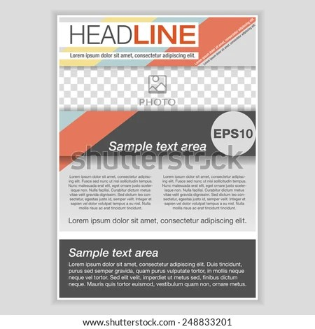 Creative Brochure Template Design Abstract Vector Stock Vector - pamphlet layout template
