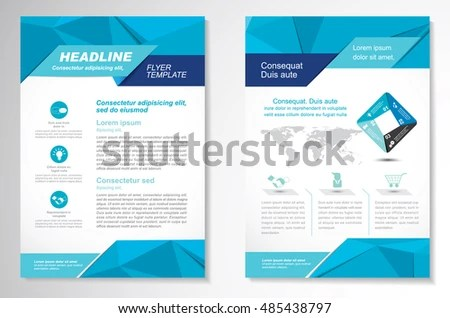 Vector Brochure Flyer Design Layout Template Stock Vector (Royalty