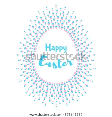 Happy Easter Greeting Card Template Egg Stock Vector 578641387 - easter greeting card template