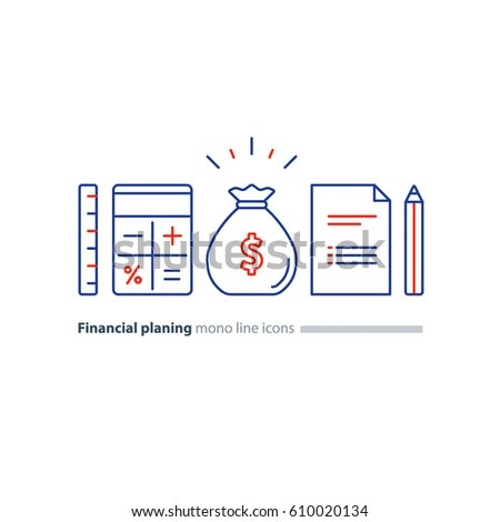 Business Plan Concept Budget Planning Financial Stock Vector - budget plan