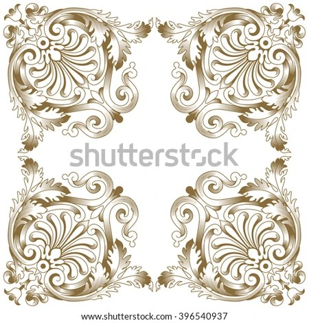 Baroque Design Style Free Style Baroque Design Amber Clear Glass - baroque scroll designs