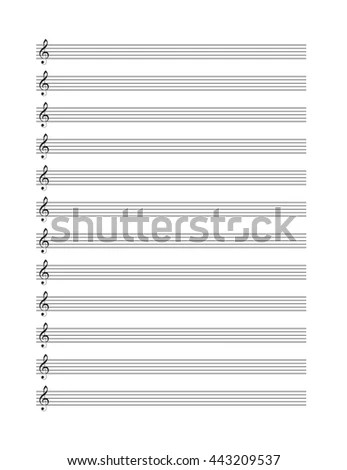 Music Blank Note Stave Vertical Music Stock Vector (Royalty Free