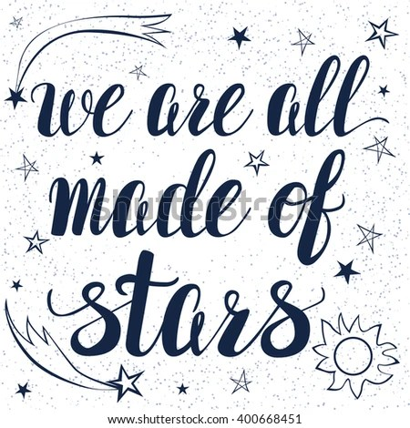 Template Lettering Cute Little Stars We Stock Vector 400668451