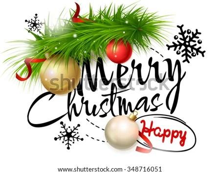 Merry Christmas Card Vector Illustration Christmas Vectores En Stock