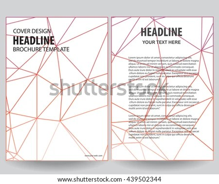 Abstract Red Outline Annual Report Leaflet Stock Vector 439502344 - Flyer Outline
