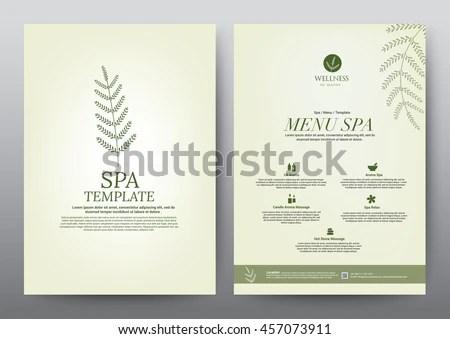 Spa Brochure Banco de imagens, imagens e vetores livres de - spa brochure