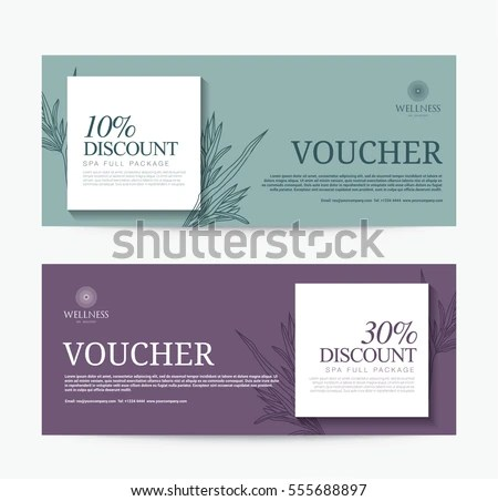 Gift Voucher Template Spa Hotel Resort Stock Vector 555688897