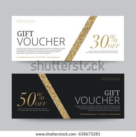 Gift Voucher Template Promotion Sale Discount Stock Vector 658673281 - gift voucher template