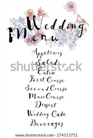 Wedding Menu Template Bright Ornamental Floral Stock Vector (2018 - wedding menu template