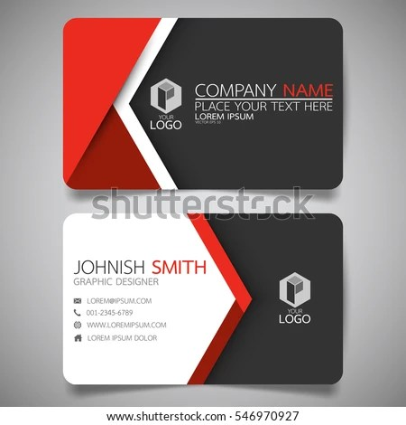 Red Modern Creative Business Card Name Stock Vector (2018) 546970927