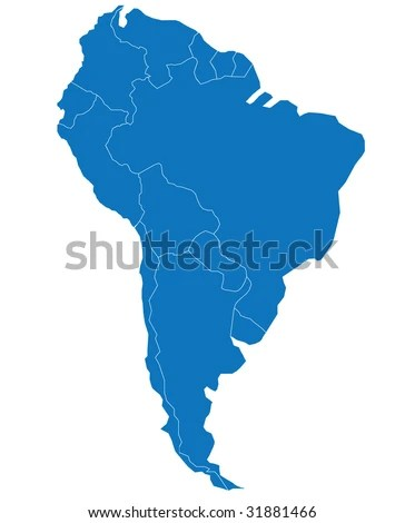Map Carte South America Separable Borders South Stock Vector