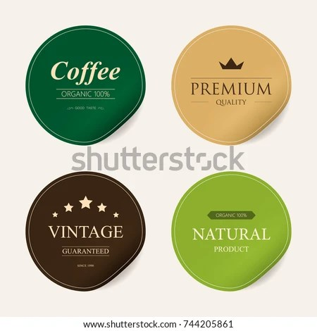 Natural Label Organic Label Green Color Stock Vector HD (Royalty - label