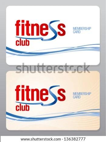 Fitness Club Membership Card Design Template Stock Vector HD