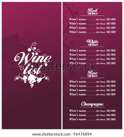Wine List Template classic templates and wine list download free - christmas list format
