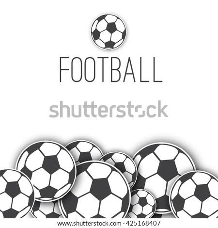 Vector Border Frame Soccer Balls Football Stock Vector (Royalty ...