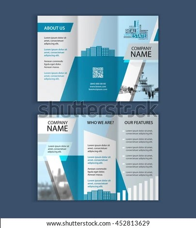 Concept Architecture Design Photo Frame Vector Stock Vector - architecture brochure template