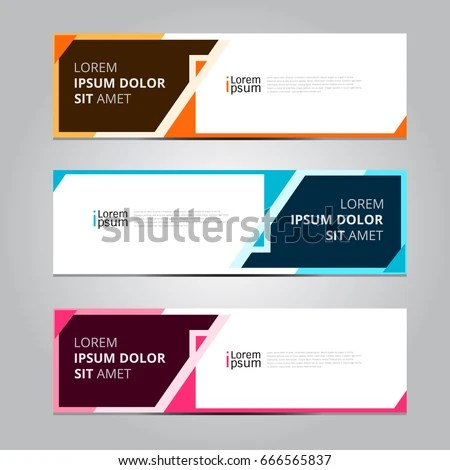 Vector Abstract Design Banner Web Template Stock Vector 666565837 - template