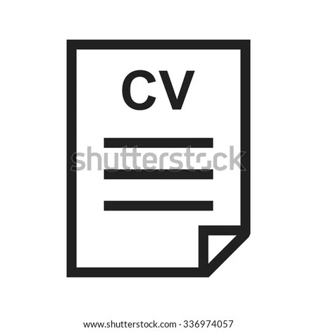 Cv File Office Icon Vector Image Stock Vector 336974057 - Shutterstock