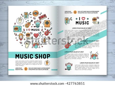 Music Brochure Template A 4 Size Stock Vector 427763851 - Shutterstock