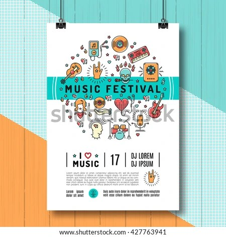 Music Festival Poster Template A 4 Size Stock Vector HD (Royalty - poster on line