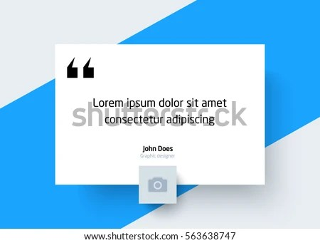Quote Template Place Text Photo Creative Stock Vector (2018 - graphic design quote template